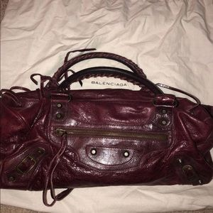 Authentic Balenciaga Bag BURGUNDY